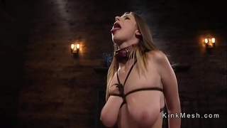 Gagged huge tits slave anal fucked