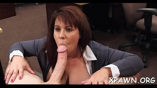 Enjoyment loving and playful amateur is drilled behind the counter