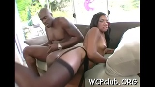 Slutty beauty is not against of getting ebony dong in her anus