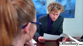 Office Big Tits Girl (Britney Amber) Realy Love Hard Baning clip-06
