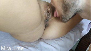 CLOSE UP Licking Perfect Pussy Until She Gets Orgasm