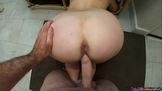 Your stepmom gets stuck and you get to fuck her pussy (POV)