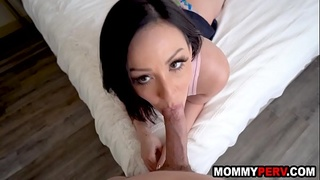 Why do you need girls at school if youve got me - step mom and son sex