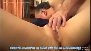 Squidpis - Uncensored Horny old japanese guy fucks hot girlfriend and teaches her daughter