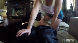 BLONDE STEP DAUGHTER JESSA RHODES WANTS DADDY TO BUY HER A CAR