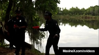 Cambodian Cop Maxine X Fucked By 7 Big Black Zombie Cocks!