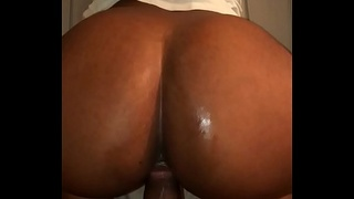 Doggy then nut in her mouth