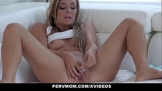 PervMom - Blonde Stepmother Tucker Stevens Persuades Stepson With Blowjob