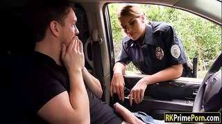 Officer being fucked with a nightstick