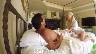 SpyFam Step daughter Piper Perri fuck and creampie for stealing moms dildo