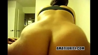 Thick and Big Tits Amateur Rides Dick like a champ