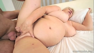 Chubby mom licking her lover
