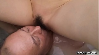 Filthy cheating wife getting her pussy eaten by the dude
