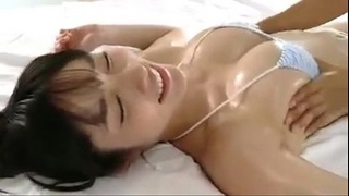 Japanese with big tits gets massage. What is her name? JAV