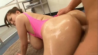 hitomi,swimsuit,tits,beauty,riding,tight,pink