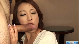 Subtitles - Japanese girl Kanako Tsuchiyo sucks the dick