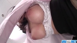 Milf with big tits Ran Minami fucked at work by horny boss