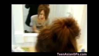 Korean Teen GF Quickie in Bathroom!