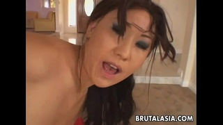 Ass licking Asianmild gets her ass fucked up