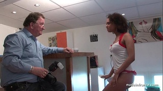 Black student deep anal fucked for her amateur french casting