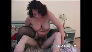 Horny Stepmom Lures Stepson Into A Trap