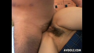 Asian School girl gets a taste of the cock