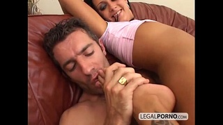 Horny brunette having hot couple sex with a big cock WK-3-01