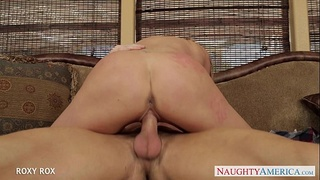 Young babe Roxy Rox take cock