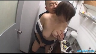 Busty Office Lady Getting Her Tits Rubbed Hairy Pussy Fingered While Standing In