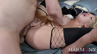 HarmonyVision Perky girl loves hard anal sex and creampie