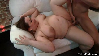 Plump chick gets fucked at party