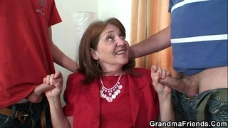 Office bitch takes two cocks