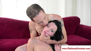 Veronica Avluv gets a mouthful of cum