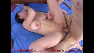 FRENCH Creampie for a first porno!