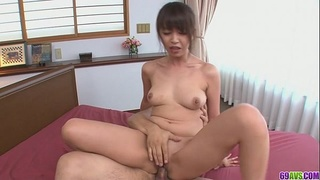 Marika gets fucked in both holes in a creampie asian video