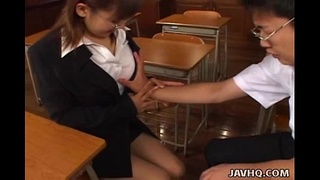 Japanese teacher pleases her student – uncensored