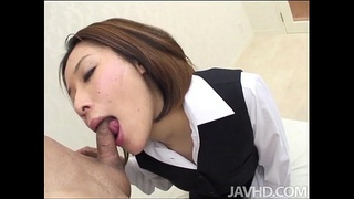 Office girl Emi Orihara is given a promotion after she gives the boss exactly wh