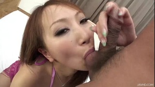 Anna in pink rubs her pussy on a hot tongue before being skull fucked