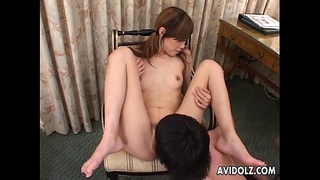 Sexy Asian Slut Double Blowjob and Cum Swallow!