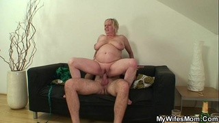 She finds her old mom sitting on her BF