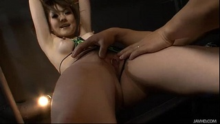 Huwari is bound and her sweet pussy is teased and played with while she moans
