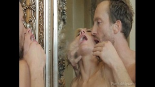 Busty Blonde Gets A Sloppy Rough Fucking