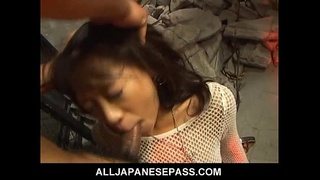 Sexy Asian babe gets roughed up by horny inmates