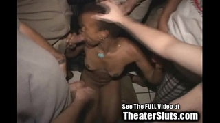 Ebony Slut Wife Tuned Out By Total Strangers In A Tampa Porn Theater!