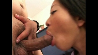Asian lick and finger lucky guy's asshole