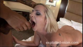 Hot blonde amateur milf getting pounded in BBC Interracial Video