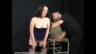 Amateur spanking and cruel caning of bruised and punished british submissive