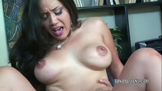 Busty babe Jessica Bangkok is getting nailed in the office