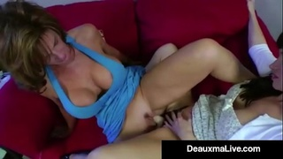 Sex Crazed Milf Deauxma Gets StrapOn Fucked By Angie Noir!