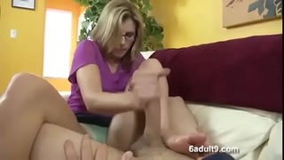 Cory Chase in mom gives not son a footjob